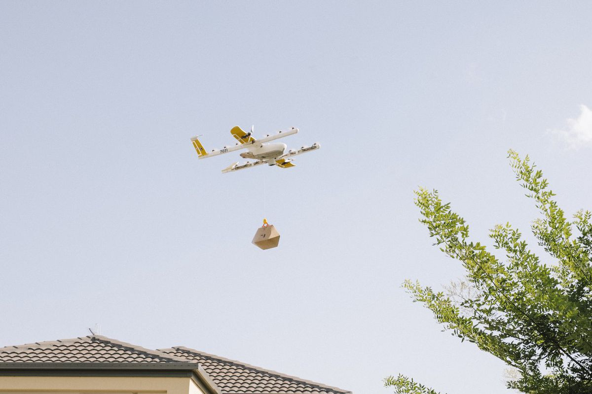 Wing drones of Google to be publicly delivered in Australia.