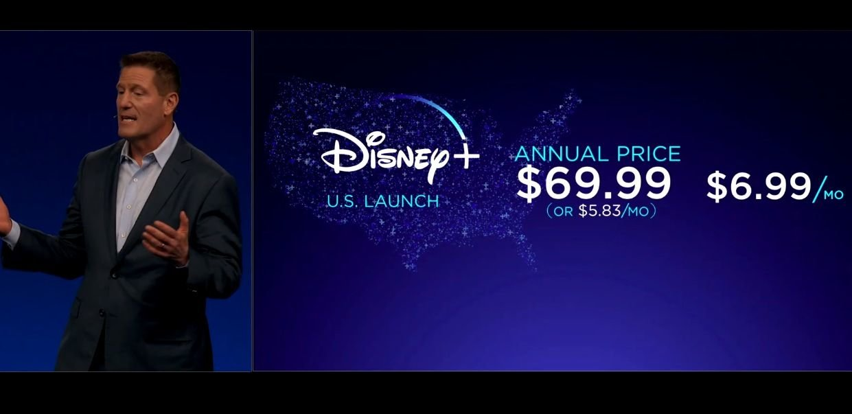 The launch of Disney+ is in November