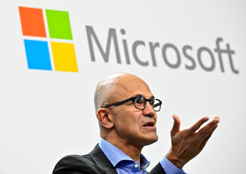 Microsoft surges past 1 Trillion Market Cap for the first time