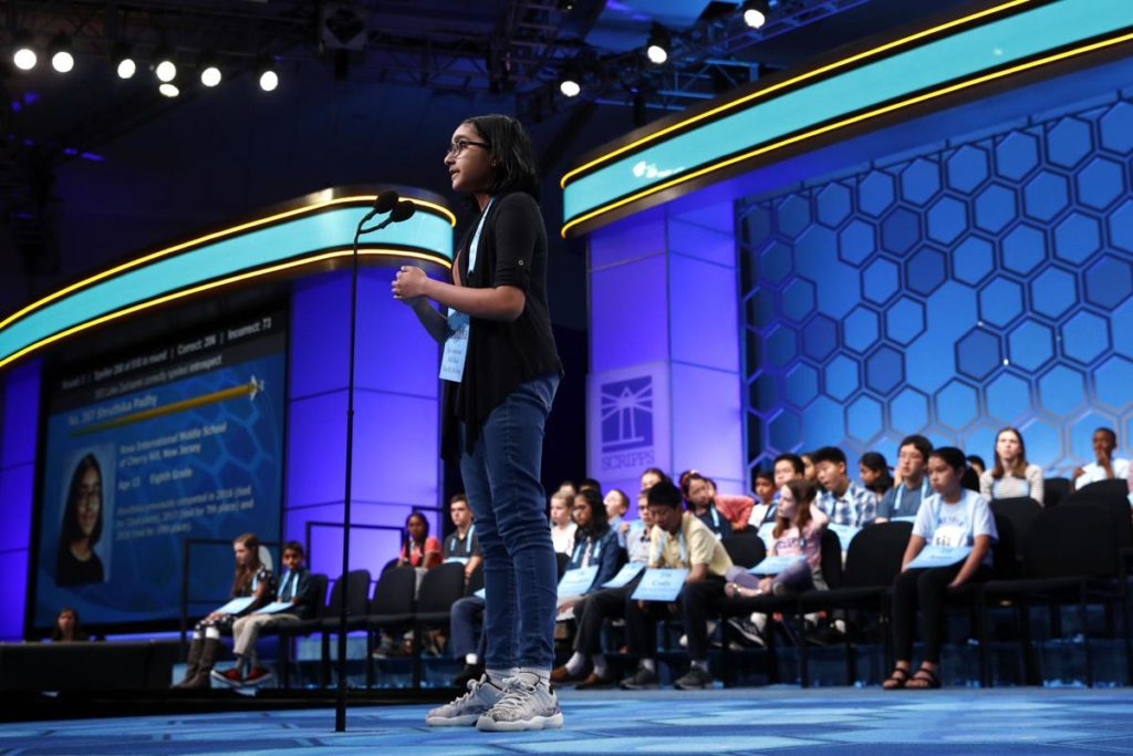 Spelling Bee finalist Sheridan Hennessy gets consolation prize and a shout-out from Lin-Manuel Miranda