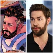 John Krasinski looks like Reed Richards in Marvel Comics
