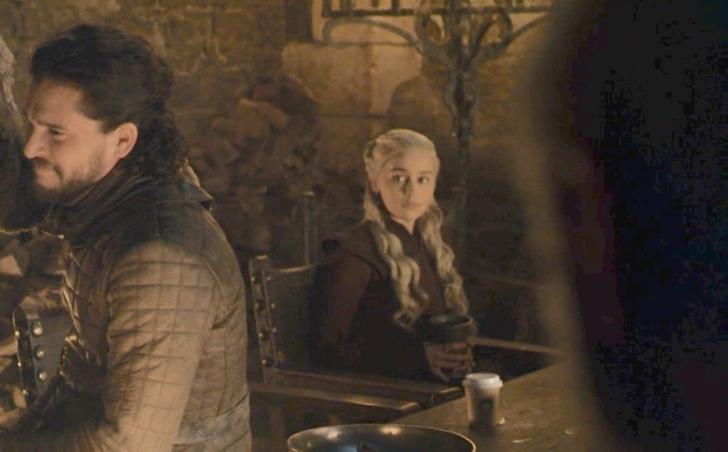 Game of Thrones season 8 episode 4 Left a cup of Starbucks, seriously?