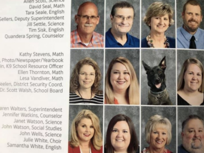 Police Dog Becomes Part of a School's Yearbook