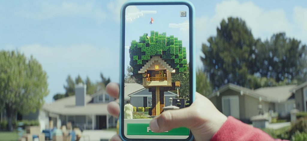 The best augmented reality game is here and its called Minecraft Earth