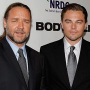 Russell Crowe tells the tale of his drunken purchase of a dinosaur's head from Leonardo Dicaprio