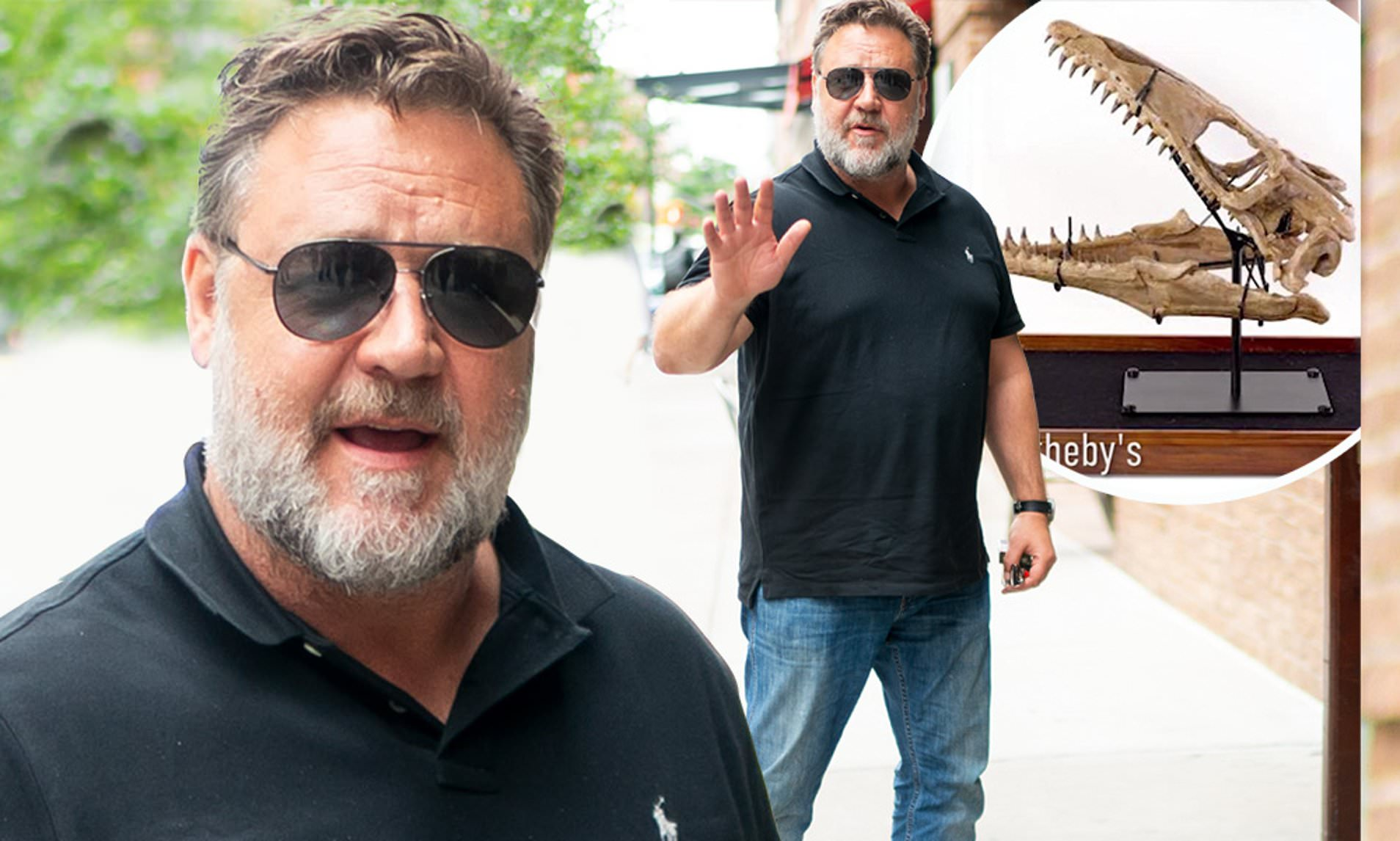 Russell Crowe tells the tale of his drunken purchase of a dinosaur's head