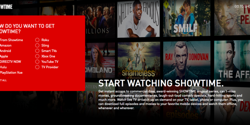 Showtime Subscription from YouTube is free of cost till summer end
