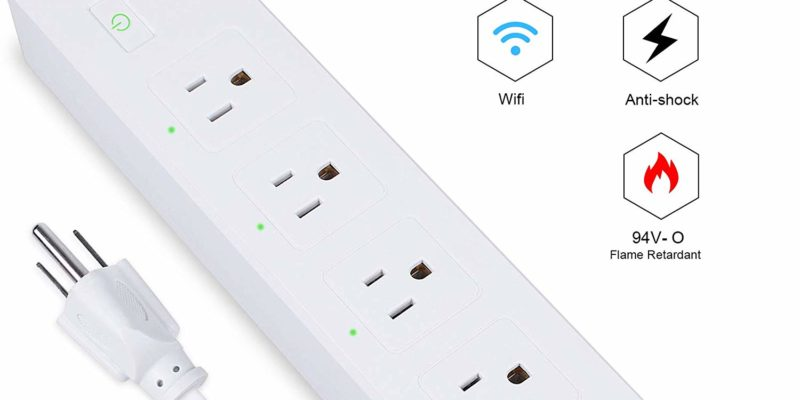 Teckin Smart Power Strip can control 4 different devices in