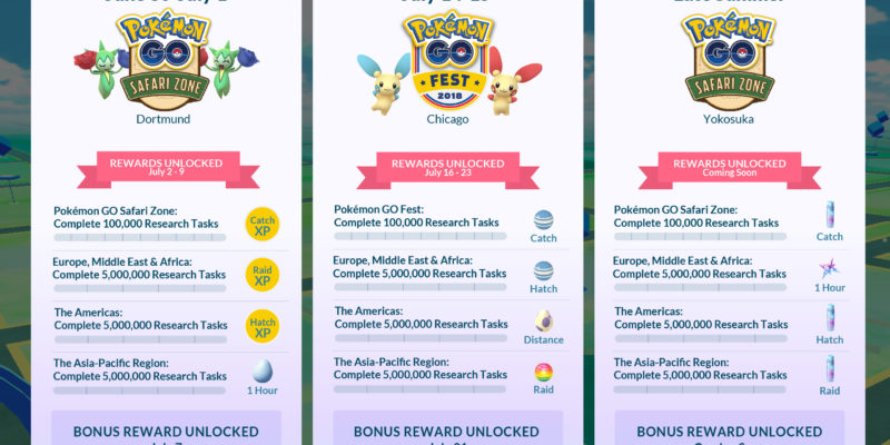 Pokemon Go challenges for the summer is revealed as Global research 2019