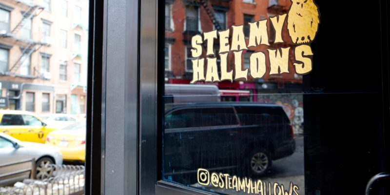 harry potter themed cafe, Steamy Hallow in New York
