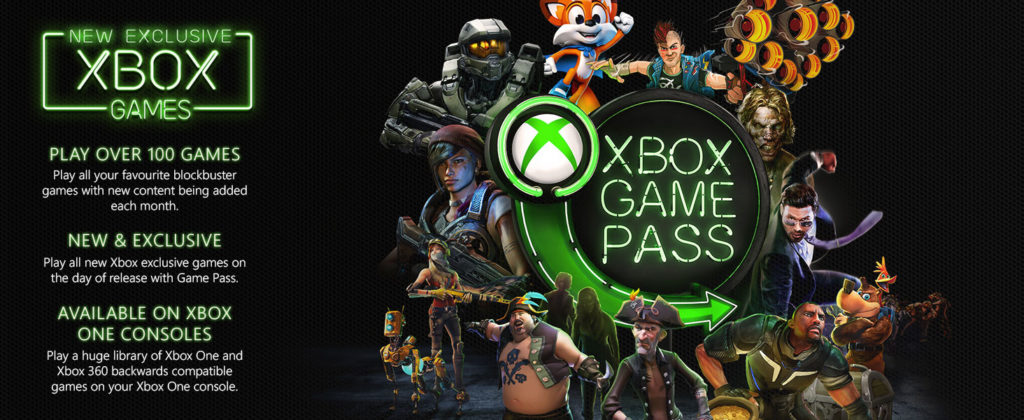 Xbox game pass provides best subscription with over 100 games in the list