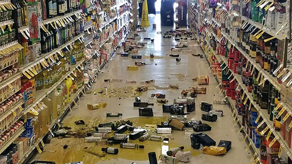 Picture taken from a departmental store after the earthquake.