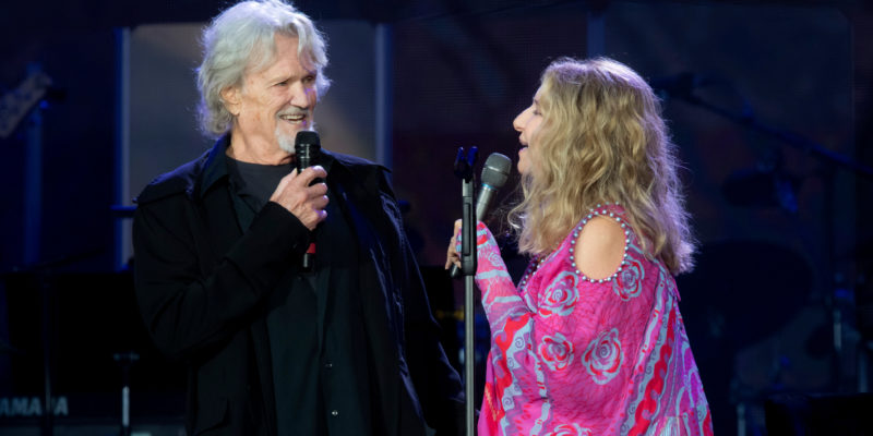 "Barbra Streisand and Kris Kristofferson comes together revive the classic ""Star is Born"""