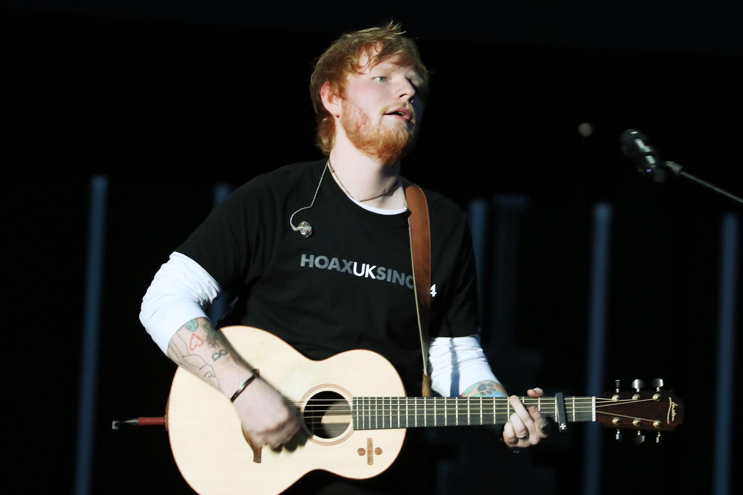 Ed Sheeran opens up pop-up stores for celebrating his new album