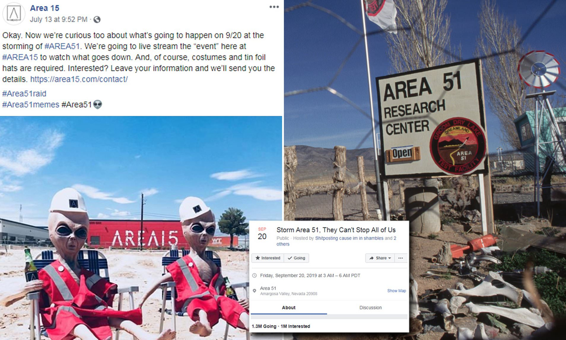 Nevada Area 51, which is holding alien hostages threatened by raid!