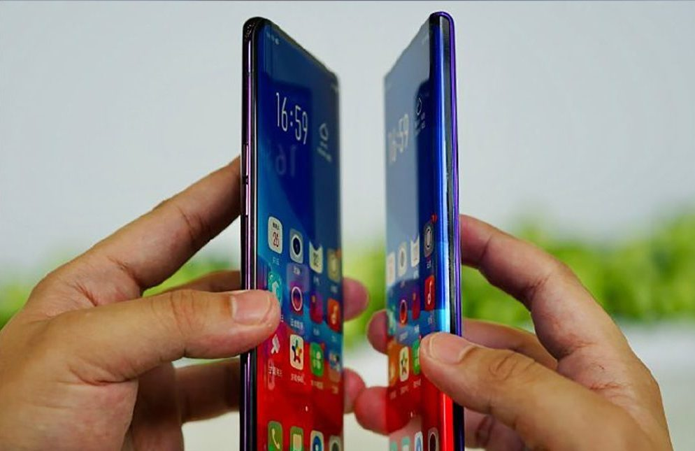 "Oppo flaunts the ""waterfall screen"" phone with extremely curved edges"