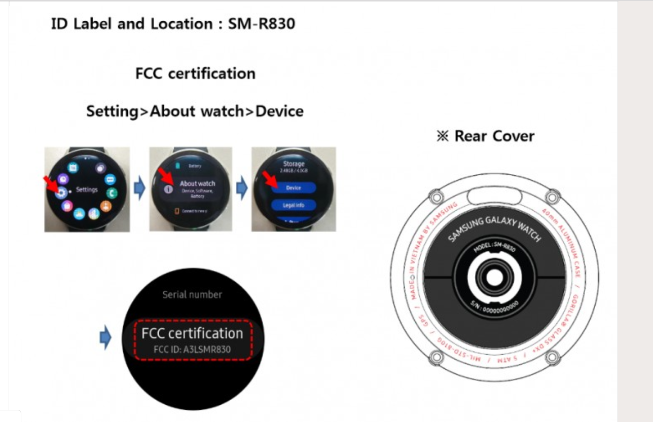 Samsung Galaxy Watch Active 2: Photos leaked through the FCC suggests launch with Note 10