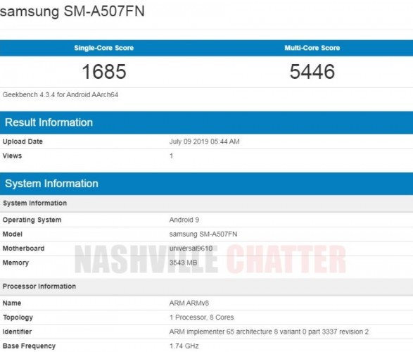 Samsung Galaxy A50s core specs revealed via Geekbench: Android 9 Pie, Exynos 9610 SoC and much more