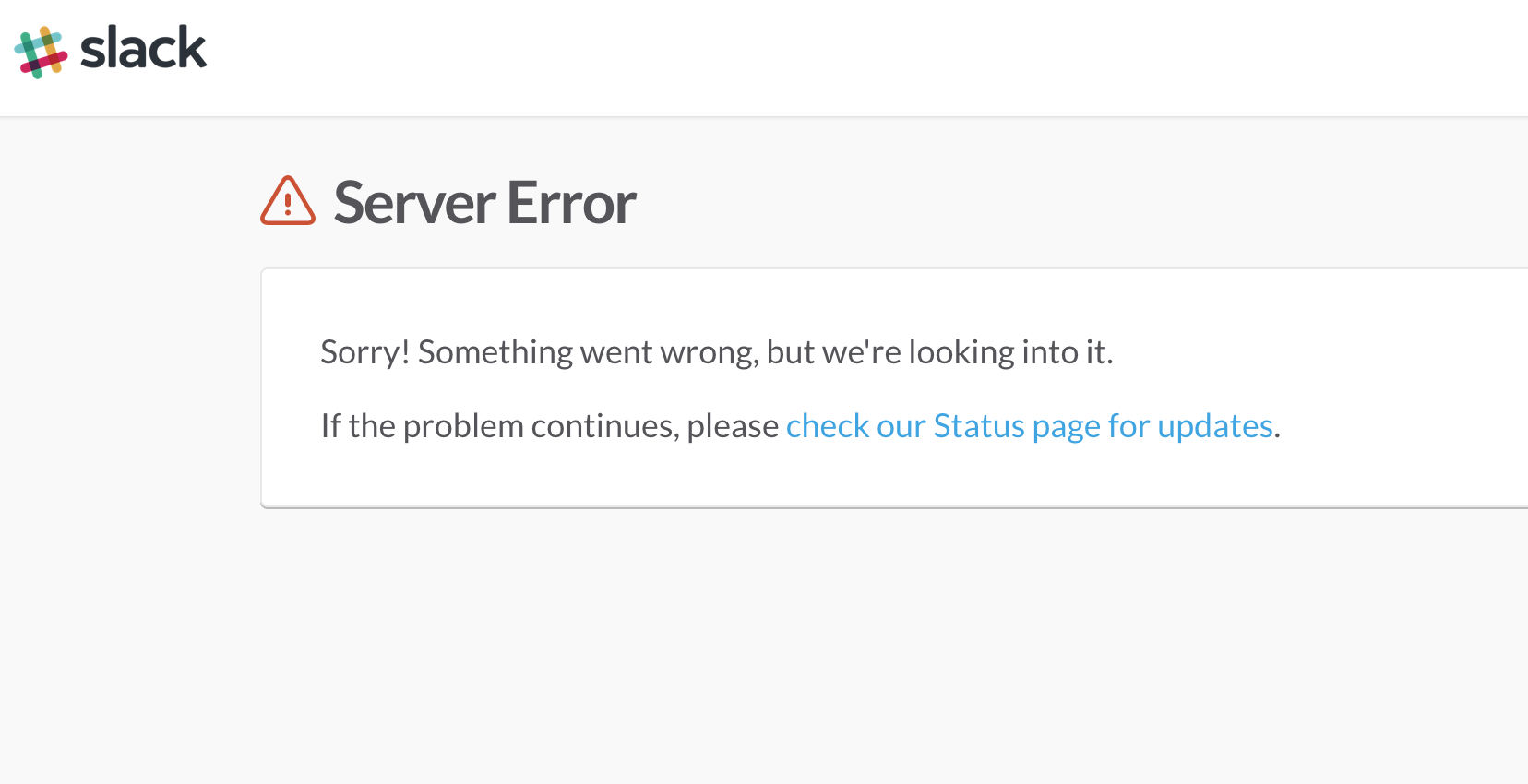 Slack is down for many users