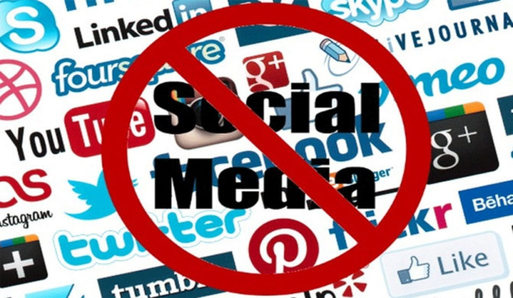 Government officials aren't allowed to use social media during working hours.