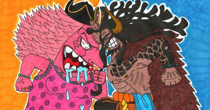 One Piece Kaido and Big Mom - The clash is on fire