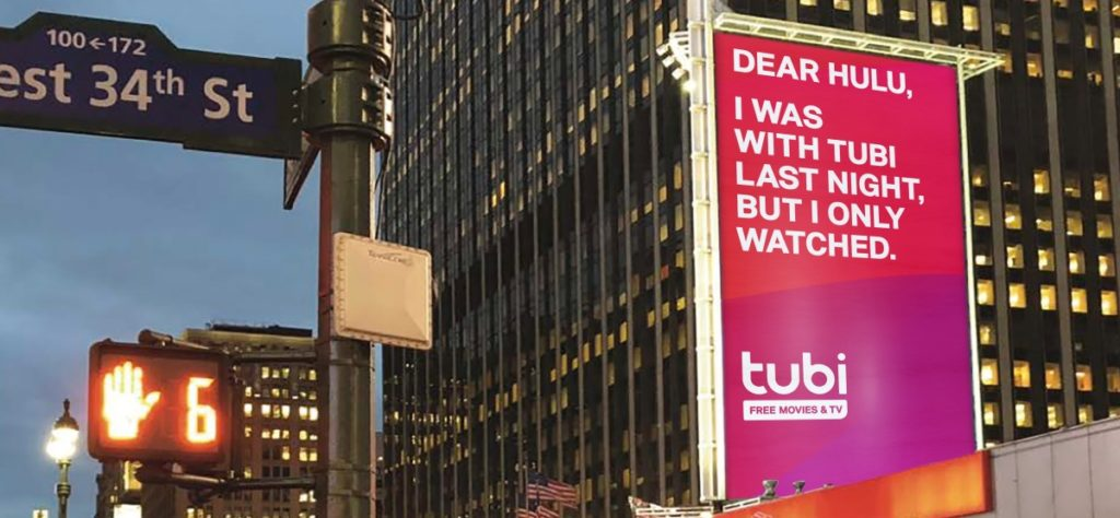 Tubi tries to compete with its out-of-home campaign