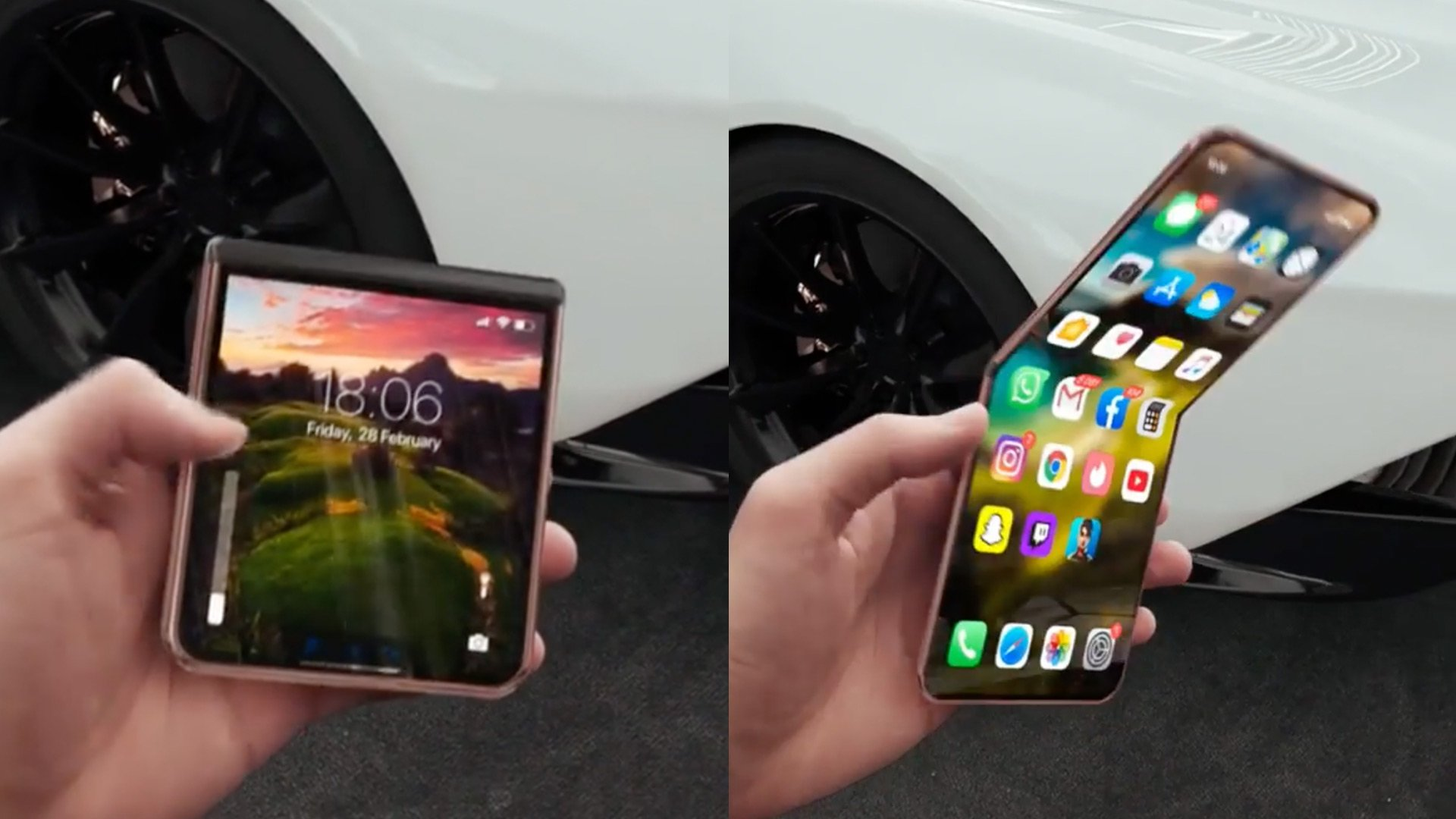 Apple iPhone Fold Design Leaks or Concept Video
