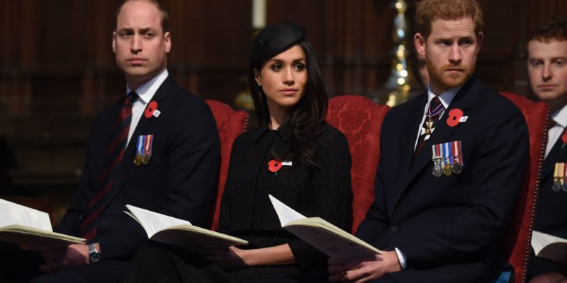 Prince WIlliam, Prince Harry and Meghan Markle